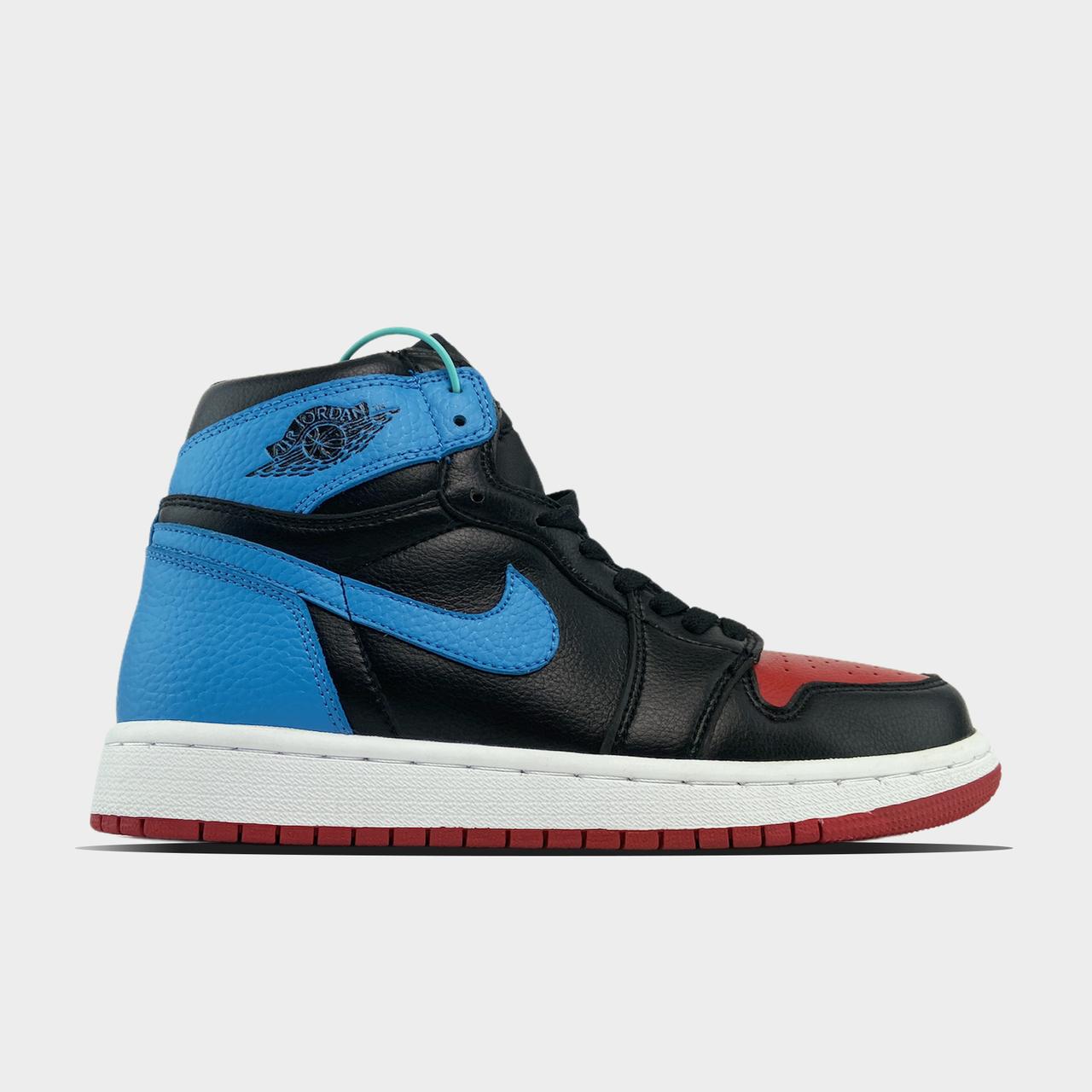 Nk, крос, обувь, взуття, sneakers, шузы, Air Jordan 1 Retro High NC to Chicago (Черный Синий)