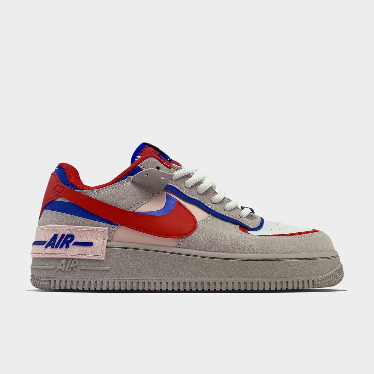 Nike Air Force Shadow Grey Red Blue (Сірий)