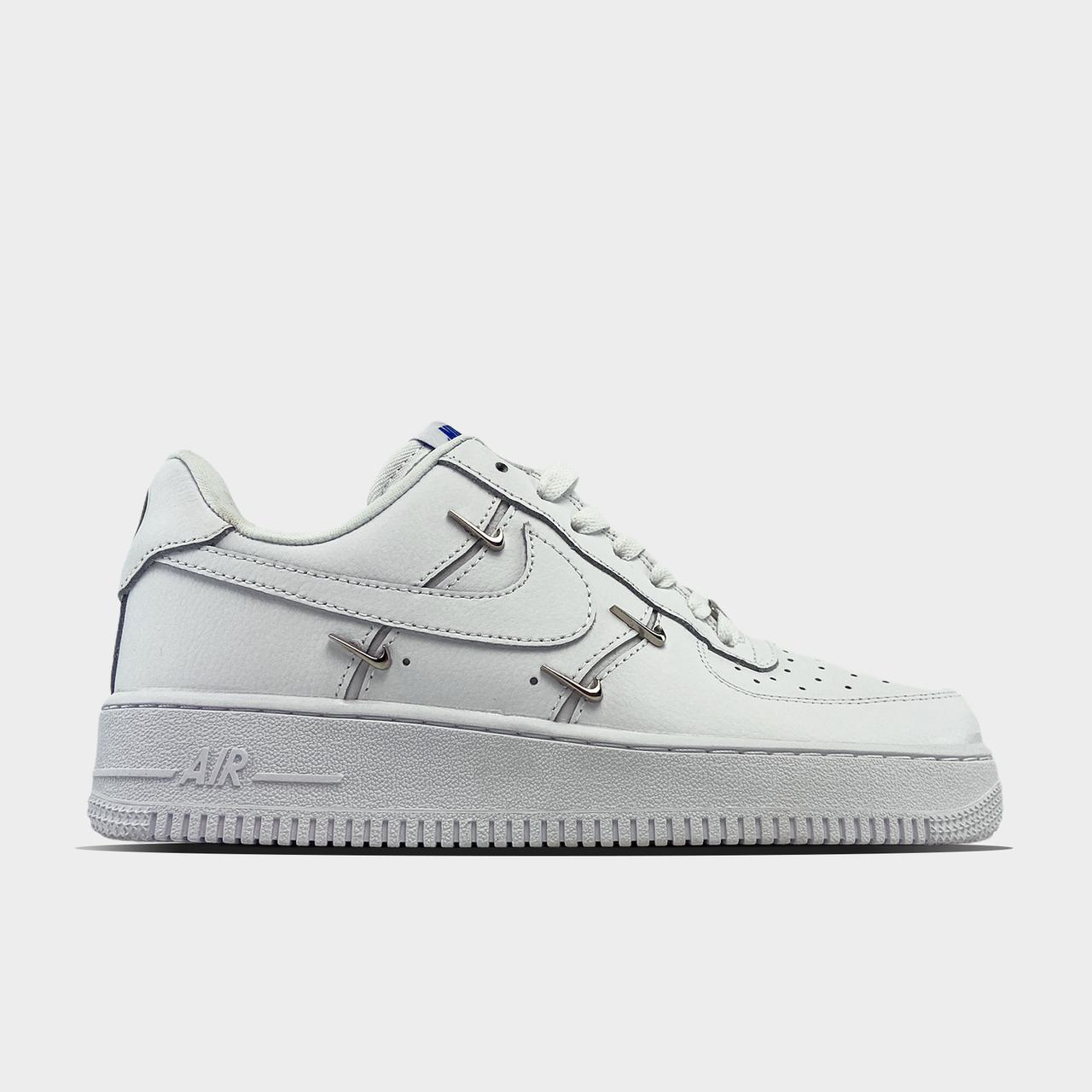 Nike Air Force 1 LX Chrome Swooshes White (Білий)