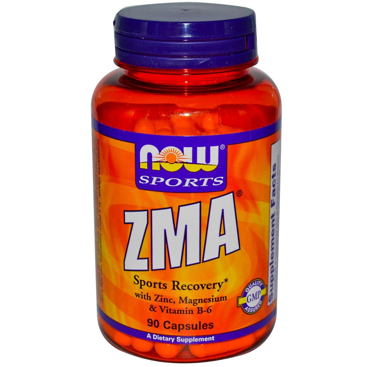 ZMA - Цинк, Магний, Витамин В6 NOW Zma 800 mg 90 капс
