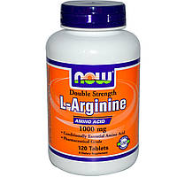 Аргинин NOW L-arginine 1000 mg 120 таб