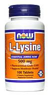 Аминокислоты отдельные NOW L-lysine 500 mg 100 таб