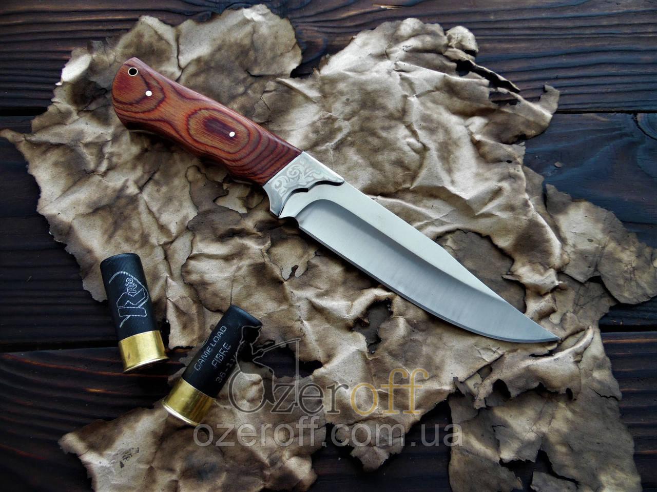Мисливський ніж з дерев'яною ручкою Colunbia 28см