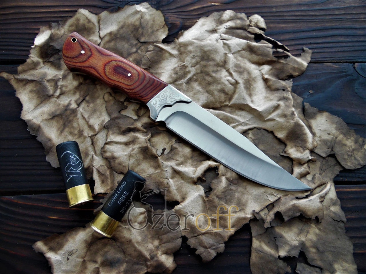 Охотничий нож с деревянной ручкой Colunbia 28см