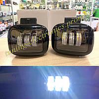 Светодиодные туманки LED на Ваз 2108/2109/21099 и другие авто 45 Watt с четкой СТГ (верхнее крепление)