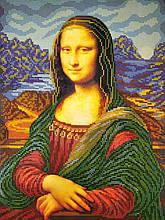 Вышивка бисером, Канва схемы картины Мона Лиза
