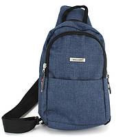 Рюкзак міський на одній лямці (слінг) на два відділу Wallaby 112 Синій, фото 1