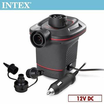 Электрический насос для надувания Intex 66636 от прикуривателя (12 V, 600 л/мин) Насос от прикуривателя