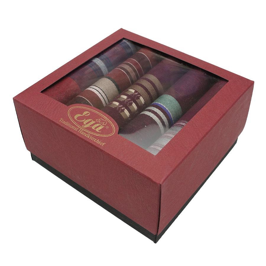 Набір смугастих носових хусток в упаковці для чоловіків Ega 5 шт CH-943/5 З