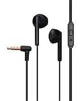Наушники вакуумные Celebrat G6 проводная гарнитура черного цвета стерео звук для телефона шумоподавляемые.