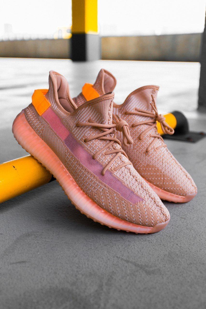 Жіночі коричневі Кросівки Adidas Yeezy Boost 350