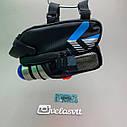 Сумка на велосипед з мигалкою і кишенею для пляшки, фото 4