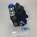 Сумка на велосипед з мигалкою і кишенею для пляшки, фото 2