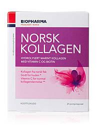 Коллаген порошок с биотином и витамином С, Biopharma, 25 саше, Норвегия