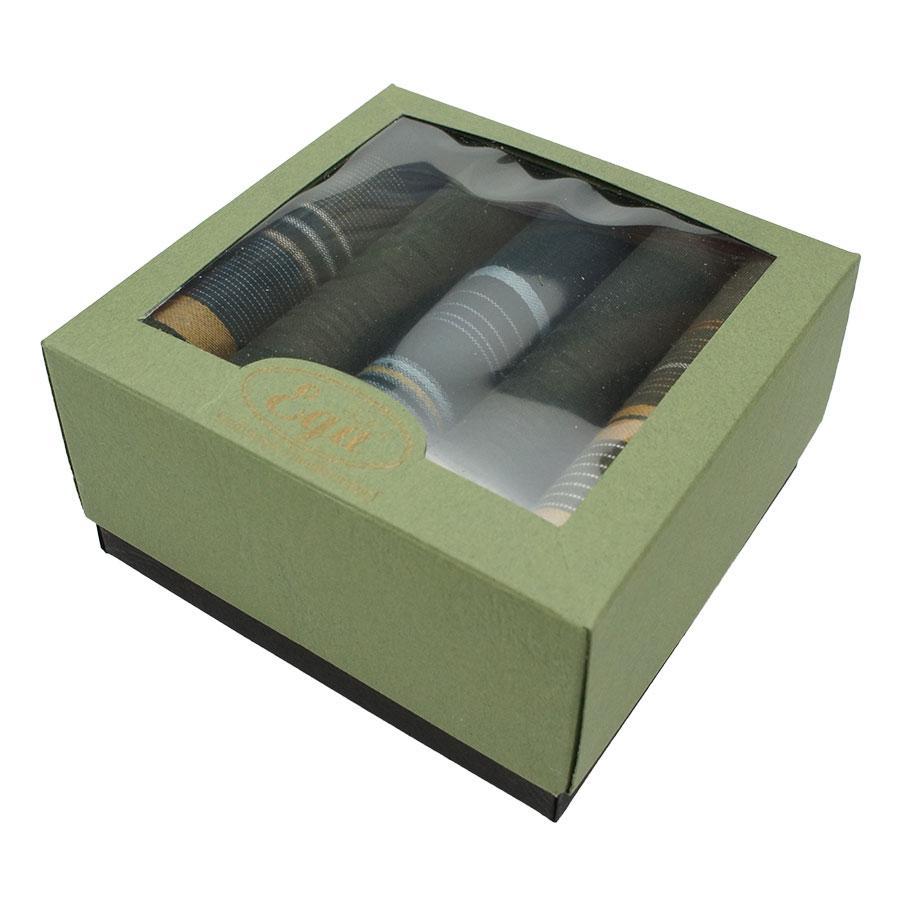 Набір якісних носових хусток в картонній упаковці для чоловіків Ega 5 шт CH-943/5 С