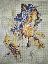 Вышивка бисером, Канва схемы картины репродукция Дегтярева Охота