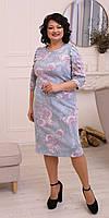 Нежное женское платье в цветочный принт