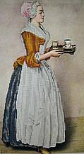 Вышивка бисером, Канва схемы картины репродукция Ж.З.Мотора Шоколадница