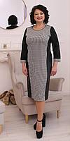 Стильное деловое женское платье из трикотажа