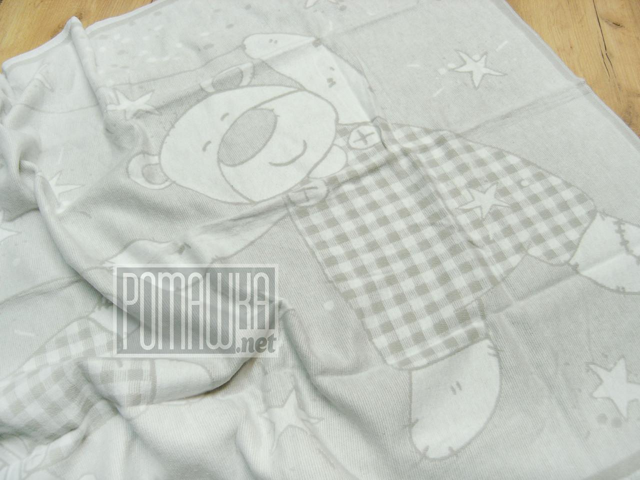 Байковий бавовняний флісовий м'який дитячий плед ковдра з начосом флісовий 100х140 для новонароджених 100%