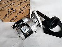 Стартер юмз редукторный + плита с установкой на кожухе 12 В 3,2кВТ (Магнетон) переделка под стартер юмз