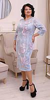 Ошатне жіноча приталені плаття в квітковий принт, фото 1