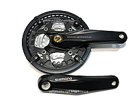 Система Shimano 44/32/22 зуба из серии Alivio, FC-M431 черная, 170mm