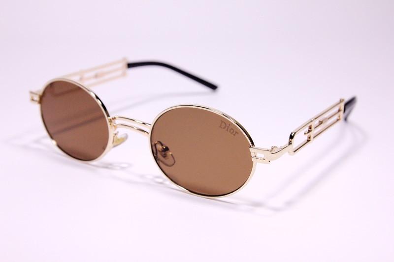 Женские солнцезащитные очки Диор 8035 C5 реплика Коричневые