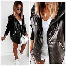 Стильная женская куртка-толстовка