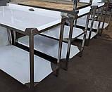 Стол производственный с полкой из нержавеющей стали шириной 700 мм, фото 3