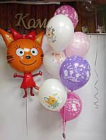 """Готовый набор шаров с гелием №18 """"Карамелька с друзьями"""""""
