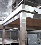 Стол производственный с полкой из нержавеющей стали шириной 700 мм, фото 4