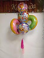 """Готовый набор шаров с гелием №19 """"Три кота с пончиками"""""""