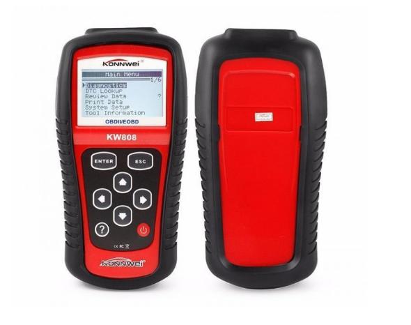 Автосканер автотестер для диагностики автомобиля профессиональный сканер для авто OBDII/EOBD Konnwei KW808
