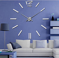 Настенные 3D часы большие White большая стрелка 39 см