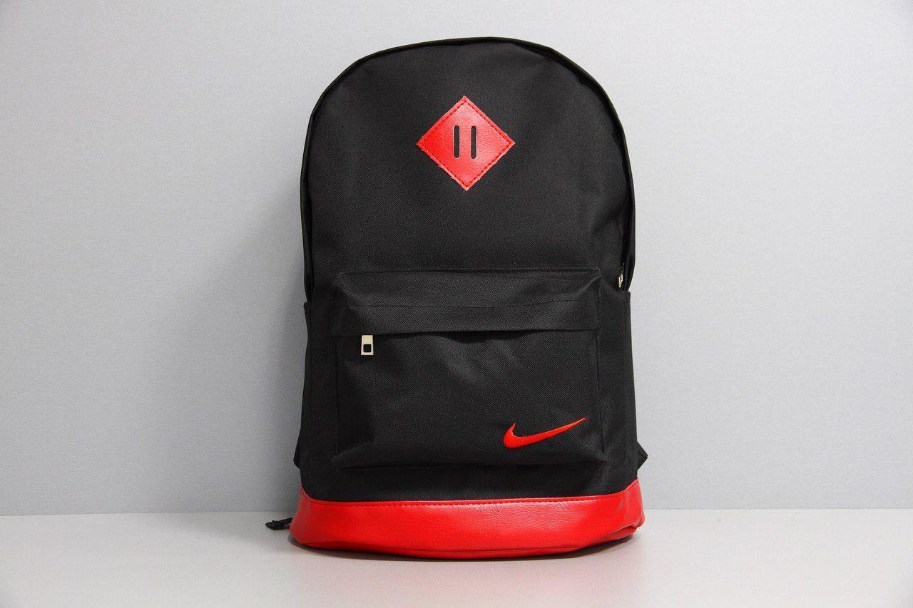 Рюкзак шкір.дно чорний, дно червоне
