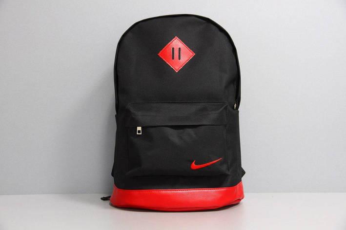 Рюкзак шкір.дно чорний, дно червоне, фото 2