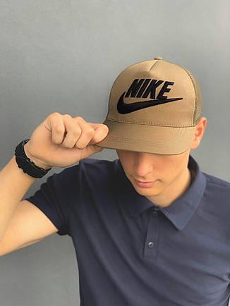 Кепка Nike большой лого хаки, фото 2