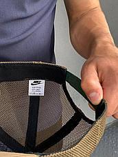 Кепка Nike большой лого хаки, фото 3