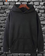 Базовый весенний свитшот мужской с капюшоном черный белый красный серый