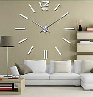 Настенные 3D часы большие White большая стрелка 31 см