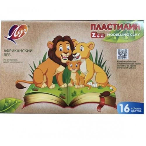 Пластилін ЛУЧ 16 кол (29С1723-08)  Зоо-Міні  (1/14)