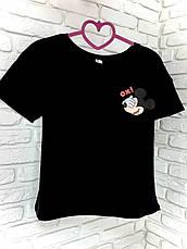 Футболка чорна з принтом Mickey Mouse OX!, фото 2