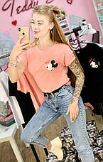 Футболка рожева з принтом Mickey Mouse OX!, фото 3