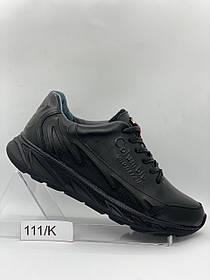 Чоловічі шкіряні чорні кросівки