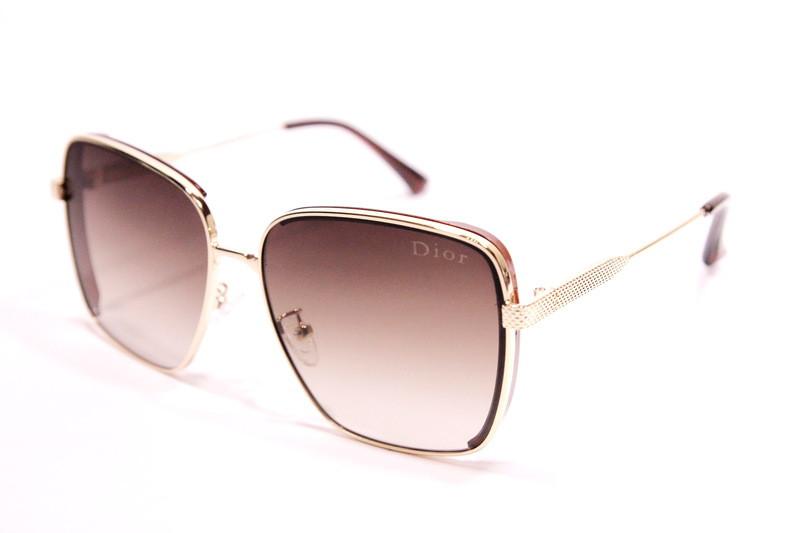 Женские солнцезащитные очки бабочки Диор 8193 C2 реплика Коричневые с градиентом