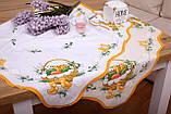 Салфетка Великодня 86-86 «Пасхальний Кошик» Жовтий візерунок Бежева, фото 2