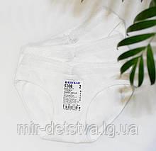 Трусики белые детские для девочек с кружевом ТМ Baykar, Турция оптом р.5 (146-152 см)