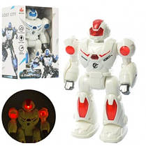 Робот 27167 22см ходить звук стрільби світло  2 кольори  на батарейці  в коробці   16-23-9см