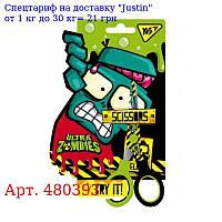 """Ножницы YES 13 см,  с принтом на лезвии """"Zombie"""""""